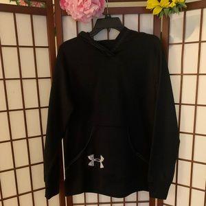 Black under armour hoodie 🖤🤍